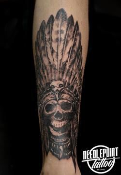 black and grey skull chieftain