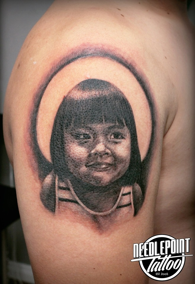 Daughter's Portrait tattoo