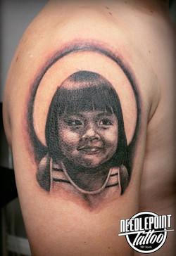 Daughter's Portrait tattoo