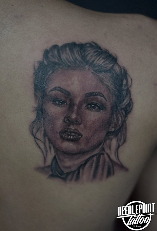 Black and gray Liza soberano Tattoo