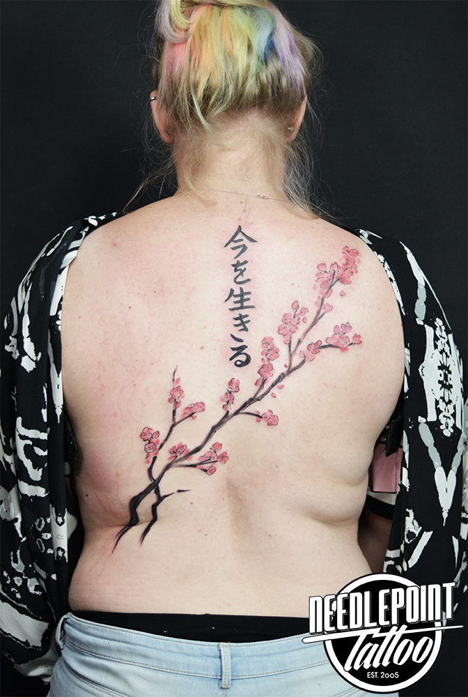 sakura back piece