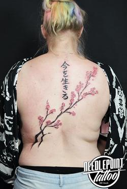 sakura back piece