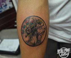 Custom Black and gray tattoo