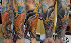 Custom Oriental sleeve tattoo