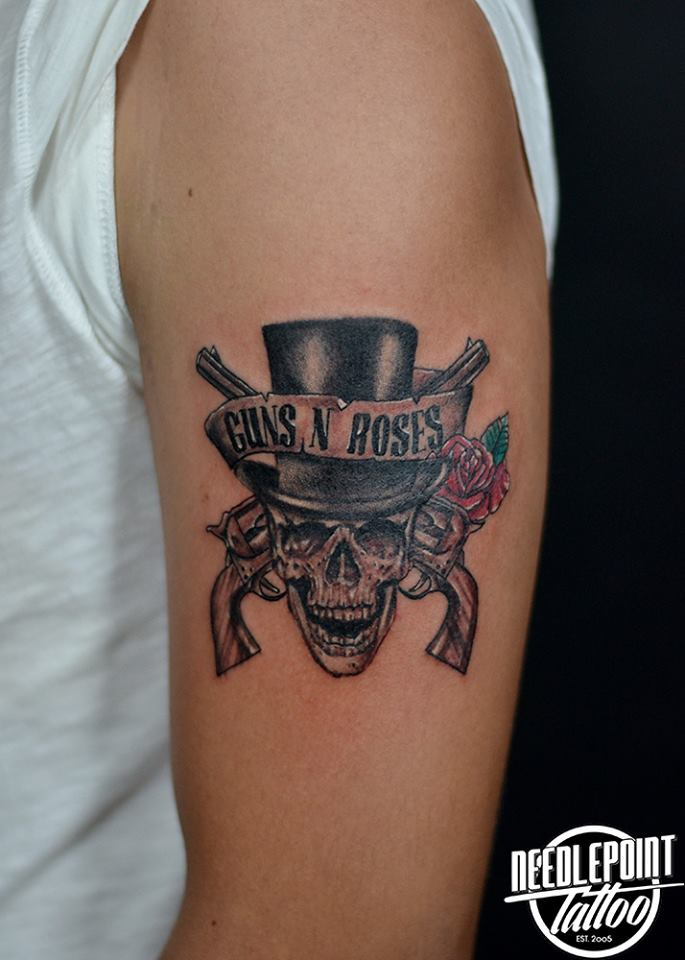 Guns n roses band logo tattoo