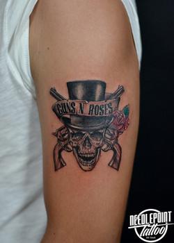 Guns n roses band logo tattoo