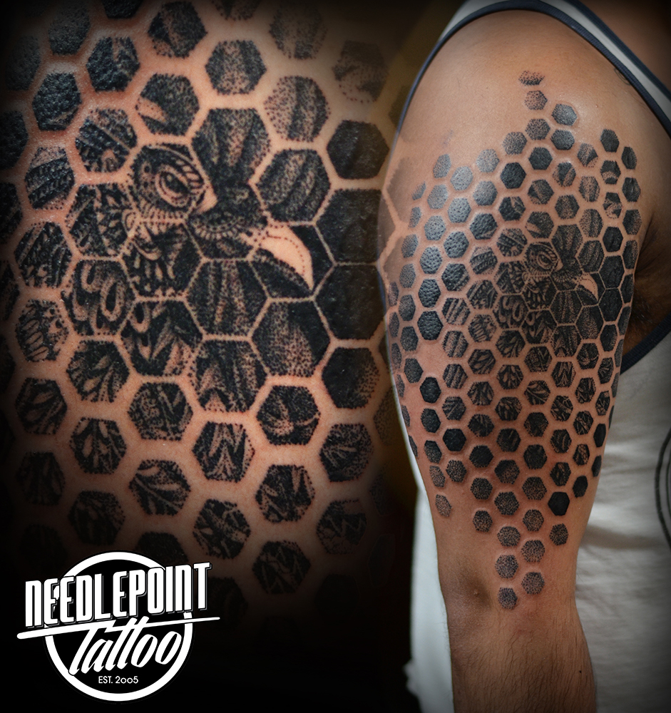 Geometric/Pointillism Tattoo
