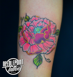 japanese style colored peony