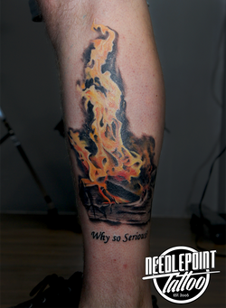 Realism Bonfire Tattoo