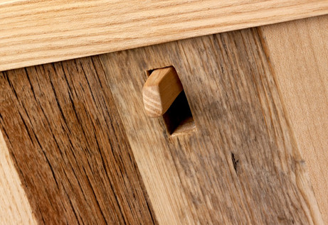 detail of drawer lever