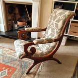 Regency X frame chair