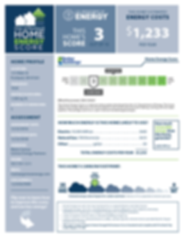 Portland Home Energy Score Report Sample