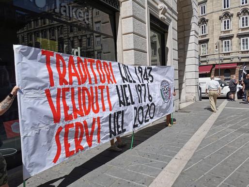 CasaPound Italia protesta durante la visita di Mattarella
