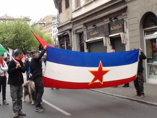 """Bandiere jugoslave il Primo Maggio, CasaPound: """"Intervenga il Sindaco."""""""