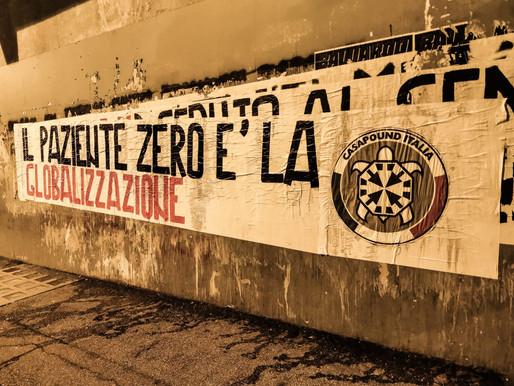 """""""Il paziente zero è la globalizzazione"""", striscioni di CasaPound in tutta Italia"""