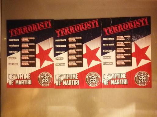 """Manifesti di CasaPound contro i terroristi del """"Parco della Pace"""""""