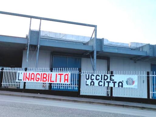"""""""L' inagibilità uccide la città"""": nuovo striscione di CasaPound Italia Gorizia."""""""