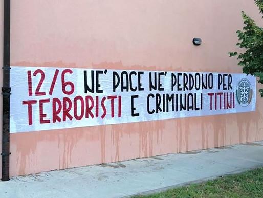 Giornata della liberazione dall'occupazione titina, striscione di CasaPound