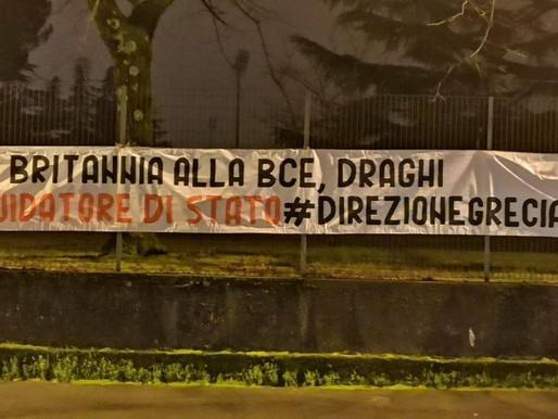 Governo, striscioni di CasaPound contro Draghi in tutta Italia