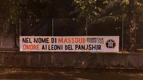 Striscioni in tutta Italia per onorare i combattenti afghani del Panjshir nel nome di Massoud