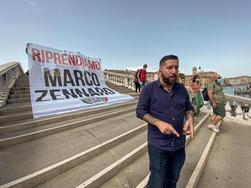 CASAPOUND, BLITZ A VENEZIA PER CHIEDERE CHE MARCO ZENNARO TORNI IN ITALIA