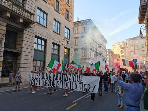 Anche CasaPound Italia in piazza contro la cessione del Balkan
