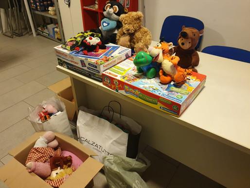 Udine, raccolta giocattoli di CasaPound