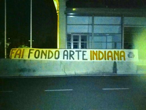 """Pasiano di Pordenone, striscione di CasaPound Italia """"FAI. Fondo Arte Indiana"""""""