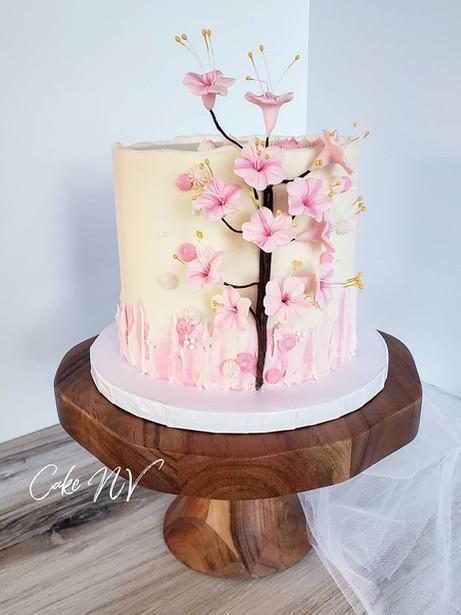 Cherry Blossom themed cake by Cake NV