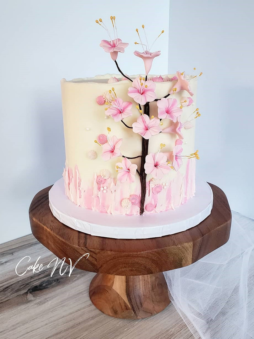 Cherry Blossom themed cake by Cake NV