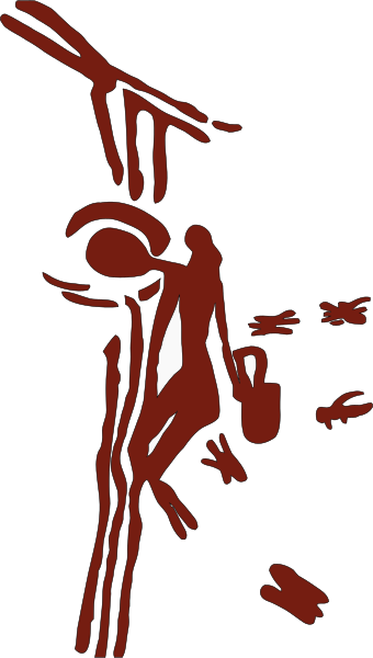 Honey seeker depicted on 8,000-year-old cave painting near Valencia, Spain