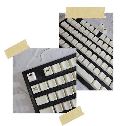 KeyKraft TYPING Lvl 100 (WHITE) Keycap Set