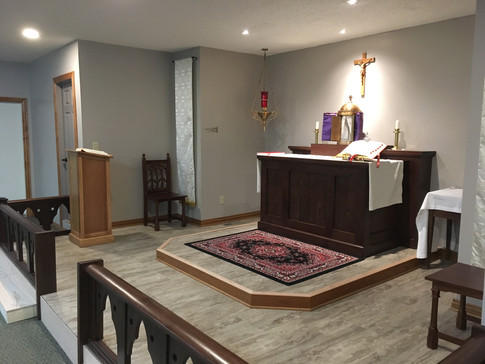 Side View of Whole Chancel - Maunday Thursday 2019