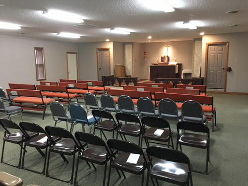 Temporary Pews and Chairs are Added - Maunday Thursday 2019