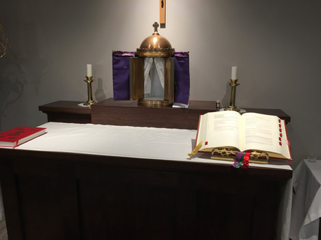 Closeup of Altar - Maunday Thursday 2019