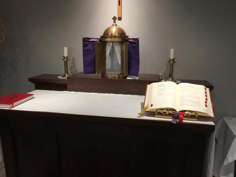 Closeup of Altar - Maunday Thursday 2019