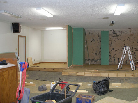 The Sacistry/Vestry Walls Go Up - Middle March 2019