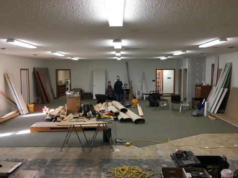 The Nave is made ready for pews --  - Late March 2019