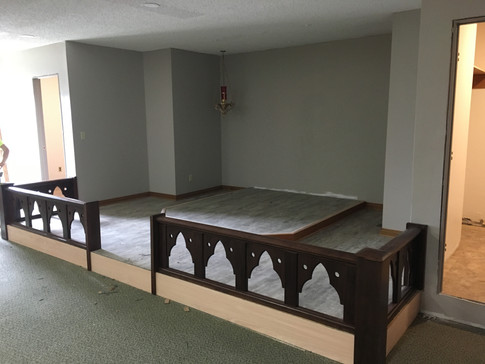 Side View of Altar Rail - Holy Week 2019