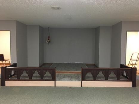 Front View of Altar Rail - Holy Week 2019