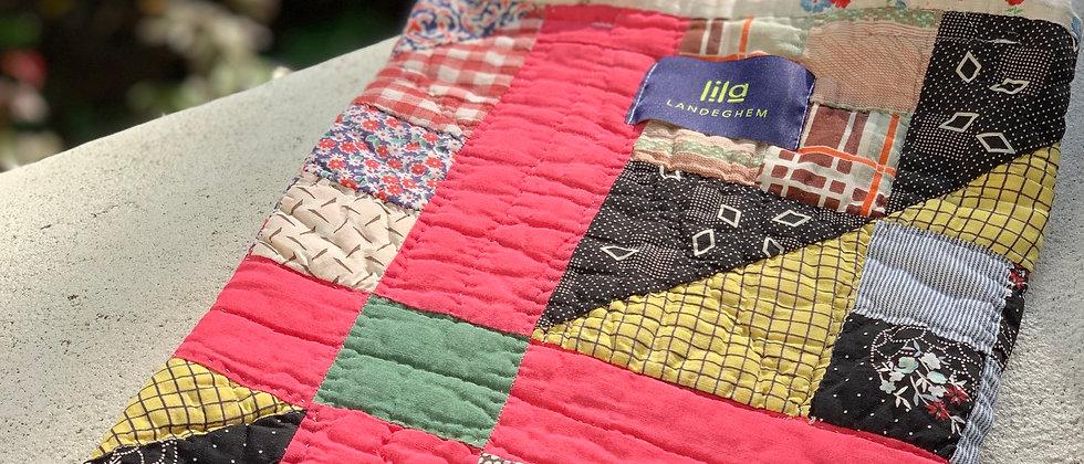 """Kleine Tasche aus Vintage Scrappy """"Nine Patch"""" Quilt"""