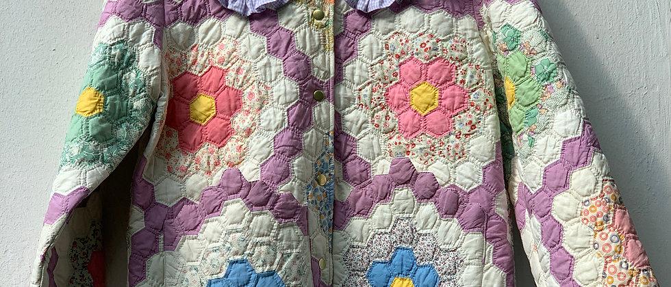 """Kragen aus """"Grandma`s Flower Garden"""" Quilt II"""