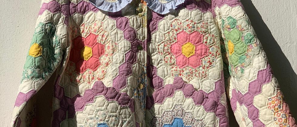 """Kragen aus """"Grandma`s Flower Garden"""" Quilt"""