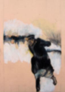 Untitled III 35x49cm pastel oil graphite