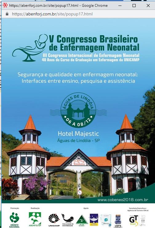 V Congresso Brasileiro  de Enfermagem Neonatal