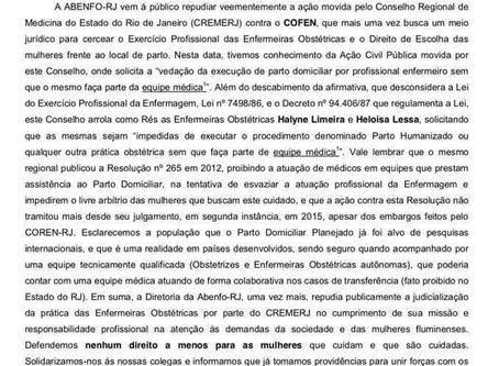 NOTA DE REPÚDIO AO CREMERJ