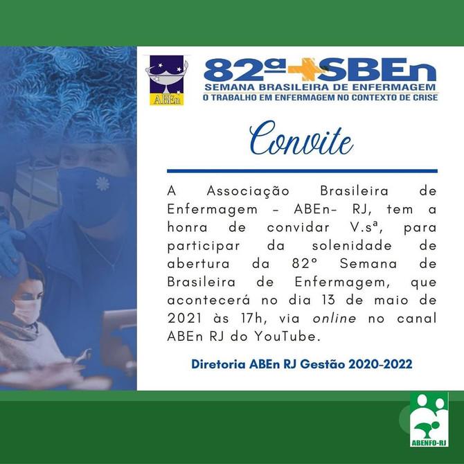 82º Semana Brasileira de Enfermagem