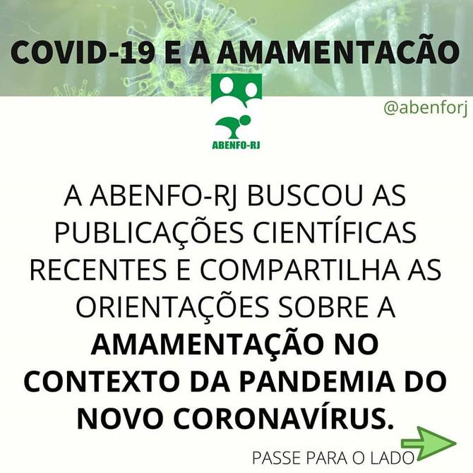 COVID-19 E AMAMENTAÇÃO