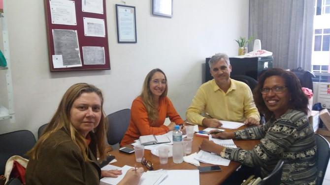 Grupo de trabalho reunido em setembro/2016 para a construção do 1° Encontro Nacional de Enfermagem G