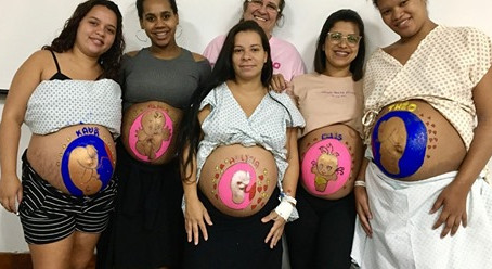Hospital Rocha Faria Faz Arterapia para Gestantes